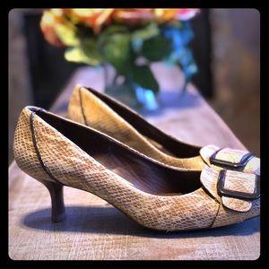 Cole Haan Snake Print Loafer/Heels Size 7 1/2